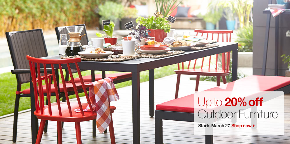 Up To 20% Off Outdoor Dining And Lounge Furniture