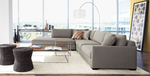 Domino 3-Piece Right Arm Sectional Sofa