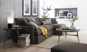 room for inspiration sofas crate and barrel