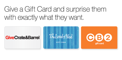 Give a Gift Card and surprise them with exactly what they want.