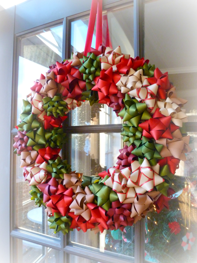 Diy Bow Christmas Wreath 2