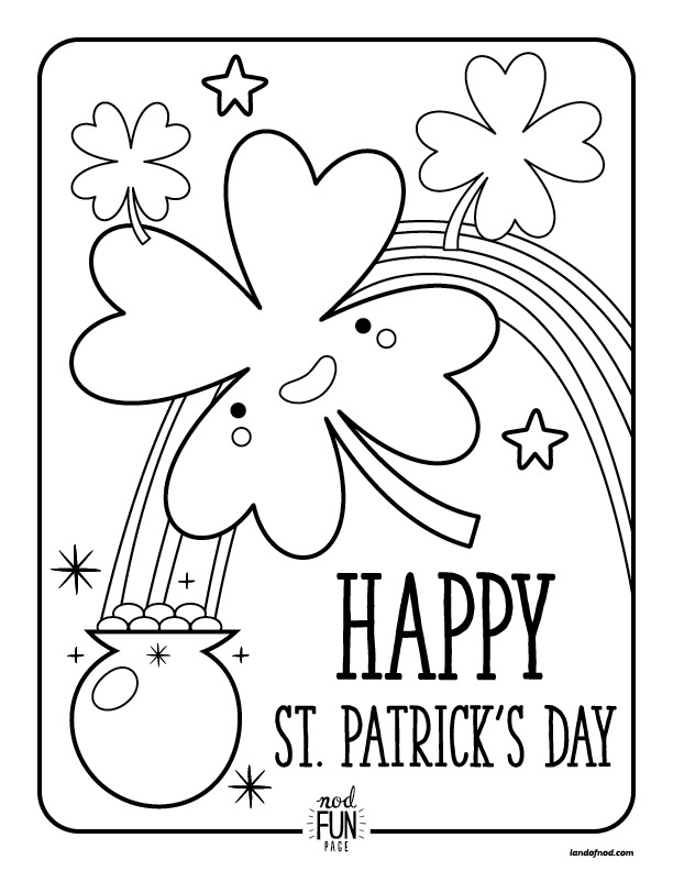 st patricks day printable coloring page - Printable Coloring Pages Kids
